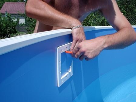 Монтаж бассейнов, установка на даче бассейнового оборудования