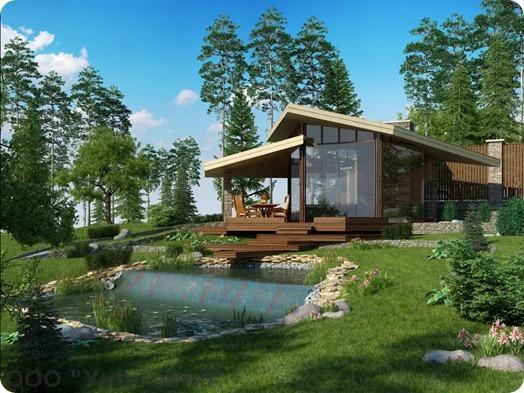Дом дизайн участок