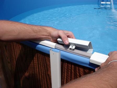 Установка бассейна на дачи каркасного и сборка оборудования