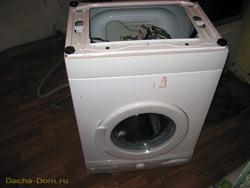 слив воды из стиральной машины