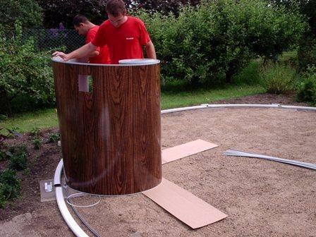 Установка бассейнов каркасных для дачи и монтаж оборудования