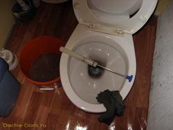 слив воды из водопровода